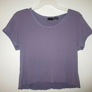 Tops - purple, cropped, t-shirt